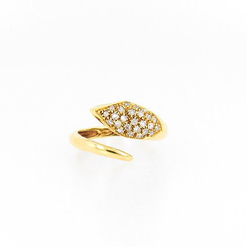 0.50ctw Diamonds Snake Ring Front