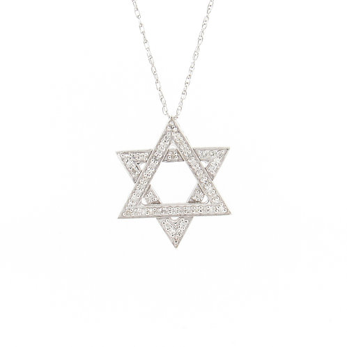 0.50ctw Diamonds Star of David Pendant Front