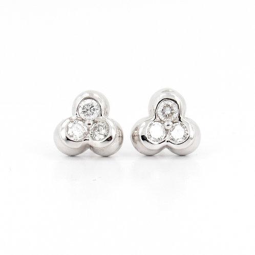 Trilogy Diamonds Stud Earrings Front