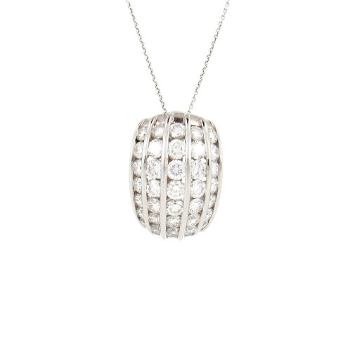 3.10ctw Diamonds Channel Dome Pendant Front