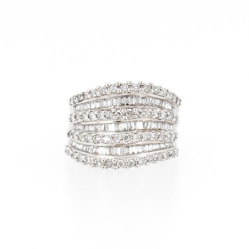 3.60ctw Diamonds Cocktail Fashion Ring Front