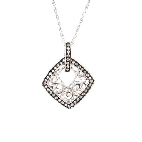 0.14ctw Diamonds Pendant Front