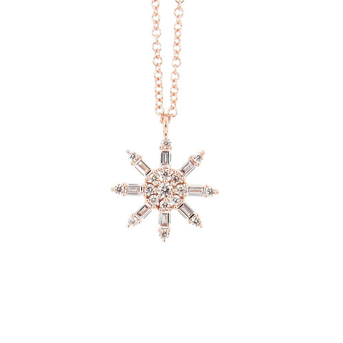 0.33 ctw Diamond Sun Necklace Front