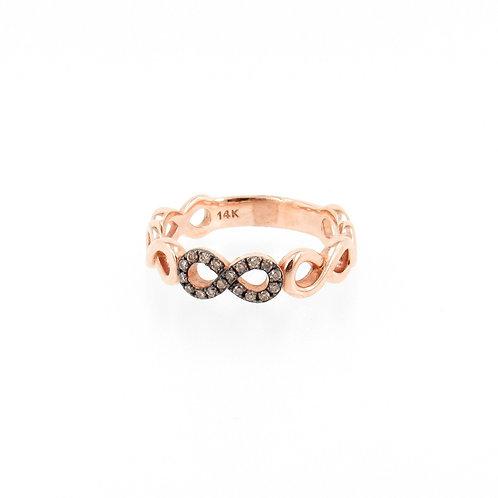 0.10ctw Round Diamonds Infinity Ring Turned