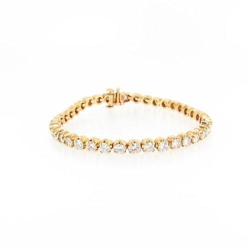 5.98ctw Diamonds Tennis Bracelet Front