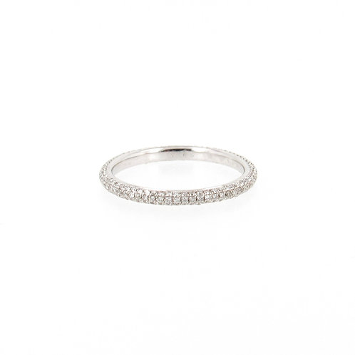 0.42ctw Round Diamonds Eternity Pave Ring Front