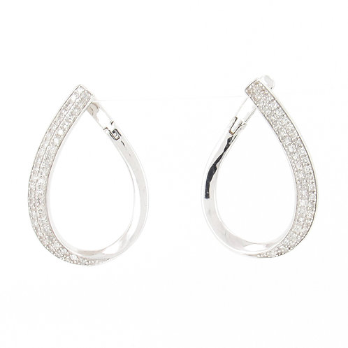 0.63ctw Diamonds Earrings Front