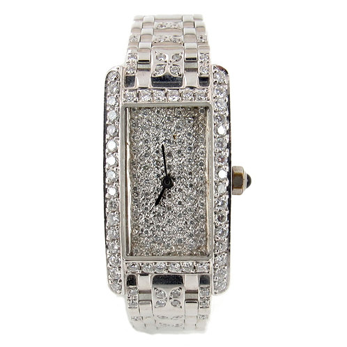14K White Gold Ladies' Diamond Watch