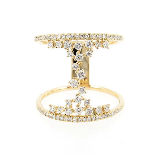 0.51 ctw Diamond Hourglass Ring Front