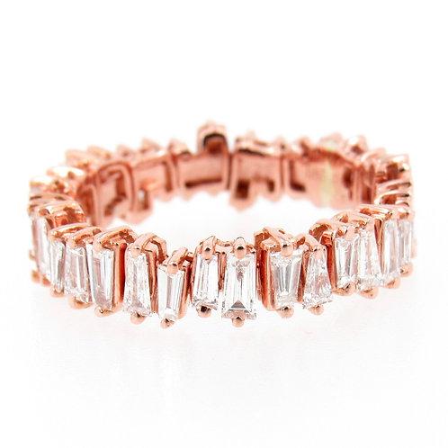 0.67 ctw Diamond Baguette Cut Ring Front