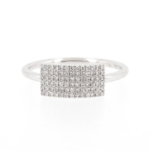 0.21 ctw Diamond Pave Ring Front