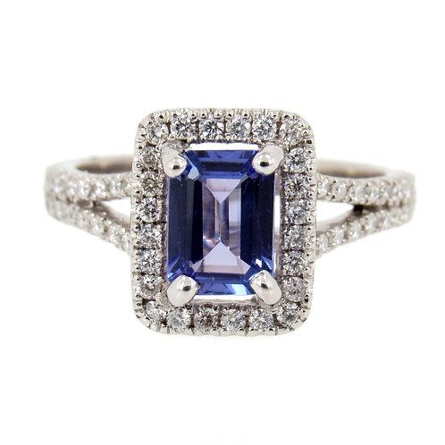 1.47 ctw Tanzanite and Diamonds Ring Front