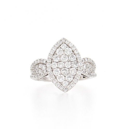 1.70ctw Diamonds Pave Ring Front