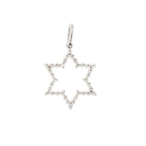 0.29ctw Diamonds Star of David Pendant