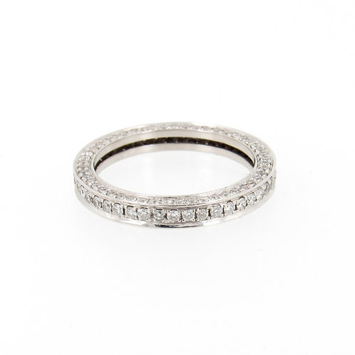 1.16ctw Round Diamonds 3D Eternity Ring Turned