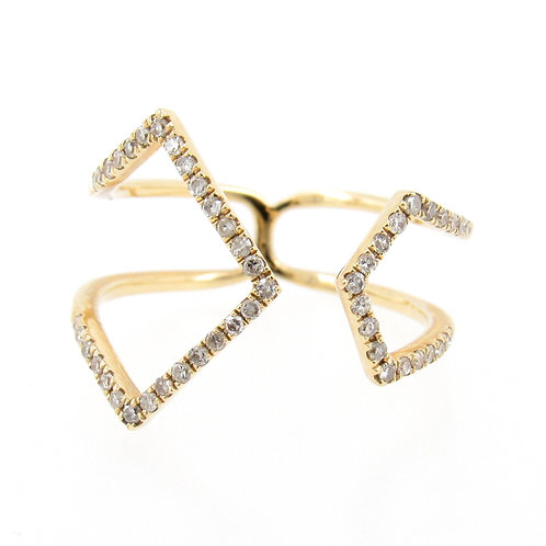 0.24 ctw Diamond Fashion Ring Front