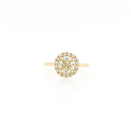 1.16 ctw Diamond Halo Engagement Ring Front