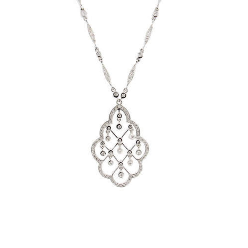 1.50 ctw Diamond Necklace Front