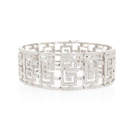 6.00ctw Diamonds Geometric Design Bracelet Front