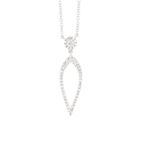 0.20 ctw Diamond Love Spear Necklace Front