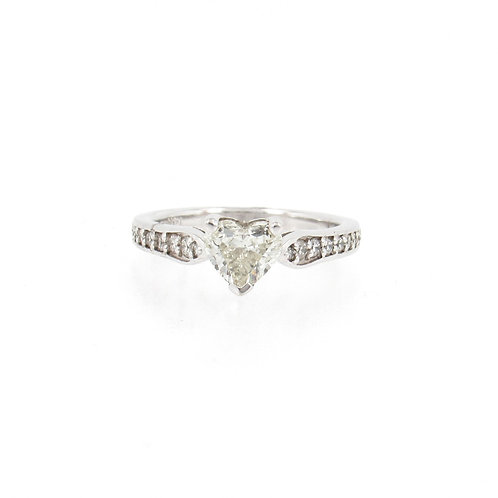 1.23ctw Diamonds Heart Shape Solitaire Engagement Ring Front
