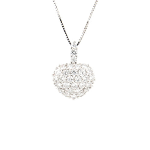 1.70ctw Diamonds Heart Pendant Front