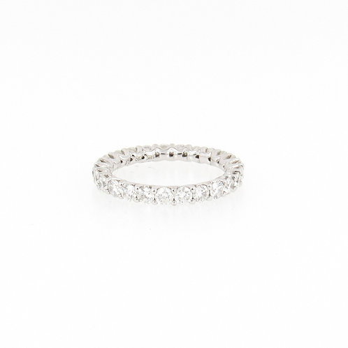 1.47ctw Round Diamonds Eternity Ring Turned