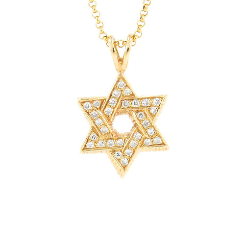 1.00ctw Diamonds Star of David Pendant Front