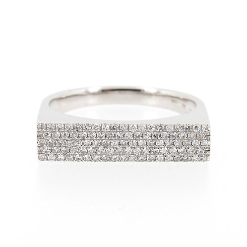 0.30 ctw Diamond Pave Ring Front
