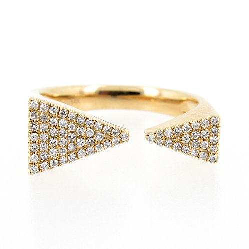0.22 ctw Diamond Triangles Pave Ring Front