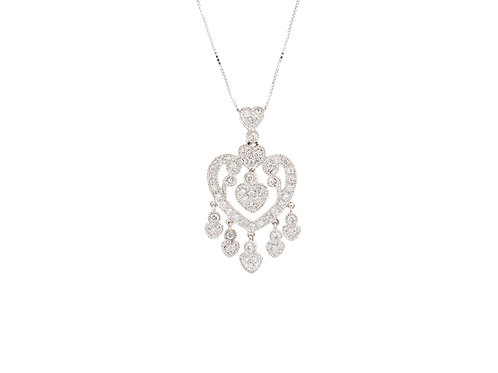 0.50ctw Diamonds Oriental Heart Pendant