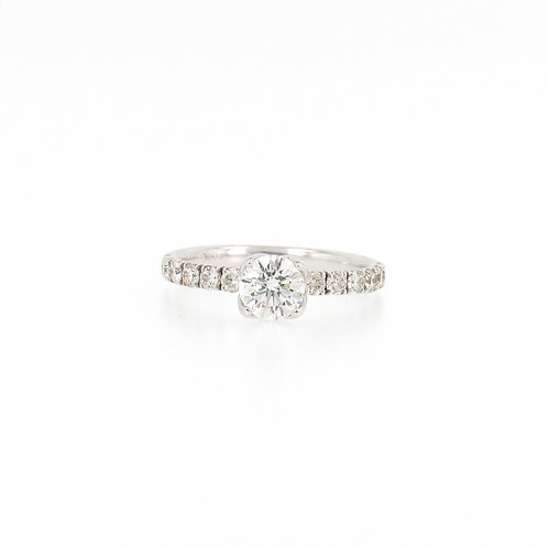 1.22 ctw Round Diamond Engagement Ring Front