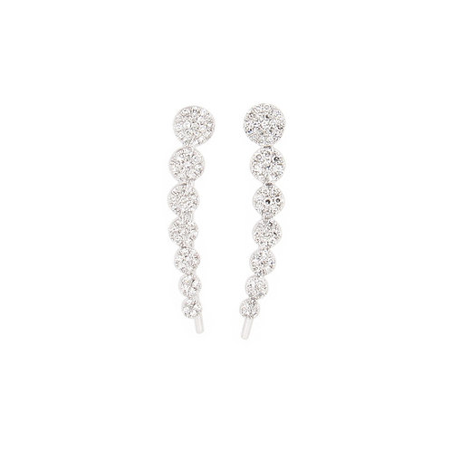 0.25 ctw Diamond Climber Earrings Front