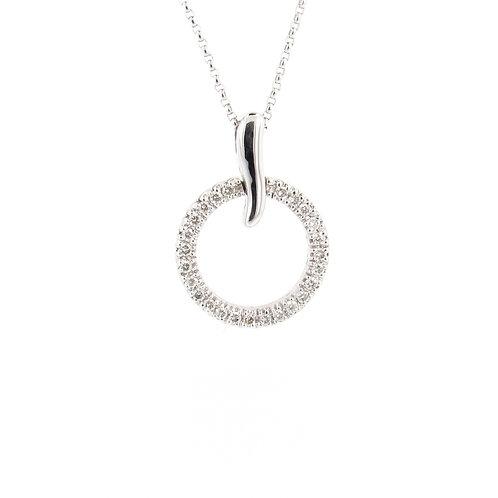 0.30ctw Diamonds Horn & Eternal Circle Pendant Front