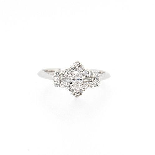 0.50ctw Diamonds Mix Ring Front