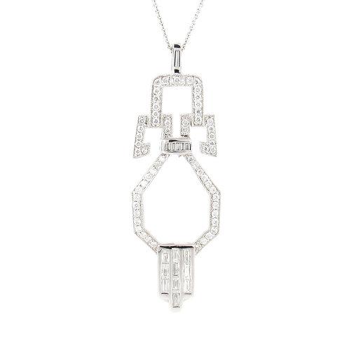 1.20ctw Diamonds Geometric Pendant Front