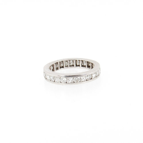 1.64ctw Princess Cut and Round Diamonds Eternity Ring
