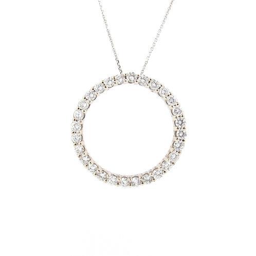 1.75ctw Round Diamonds Eternal Circle Pendant Front