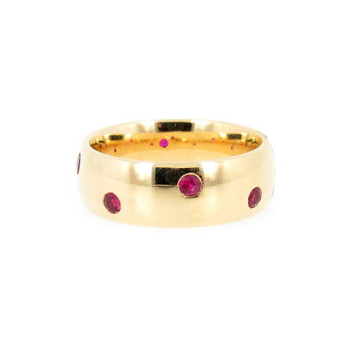0.38 ctw Ruby Ring Front