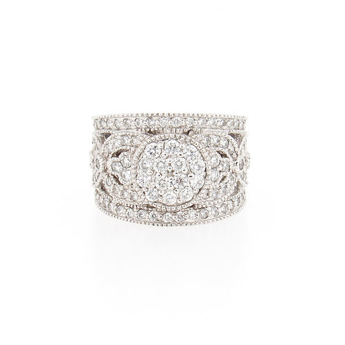 1.25ctw Diamonds Art Fashion Ring Front