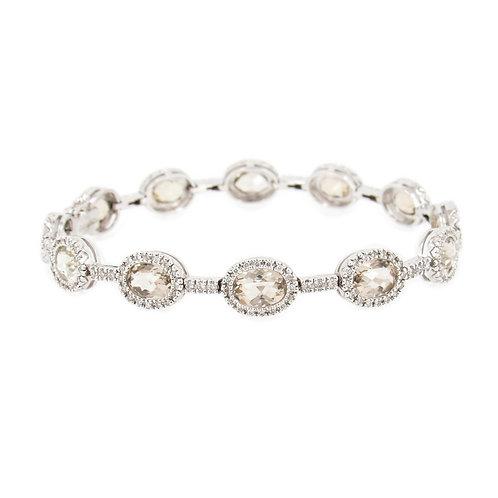 Lemon Quartz and Diamond Bracelet Front