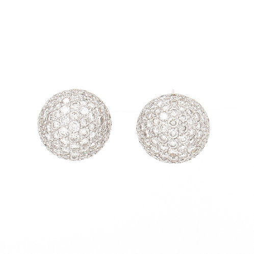 5.98ctw Diamonds Dome Earrings Front