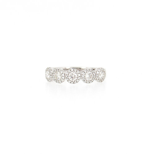 0.70ctw Round Diamonds Ring Front
