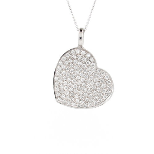 1.07ctw Diamonds Pave Heart Locket Front