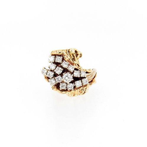 1.75ctw Diamonds Organic Design Ring Front