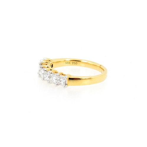 1.03ctw Princess Cut Diamonds Anniversary Ring