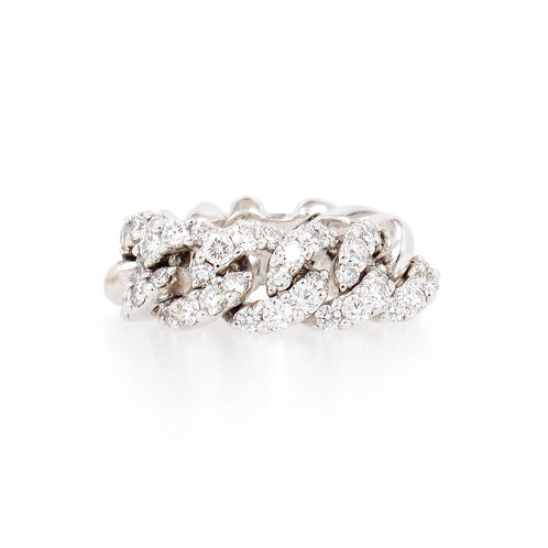 2.35ctw Diamonds Gold Chain Ring Front