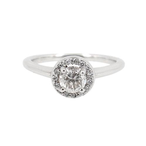 0.50 c.t.w Diamond Halo Engagement Ring Front