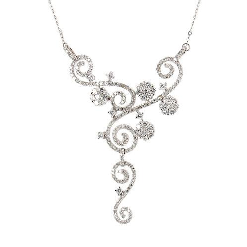 1.80 ctw Diamond Necklace Front