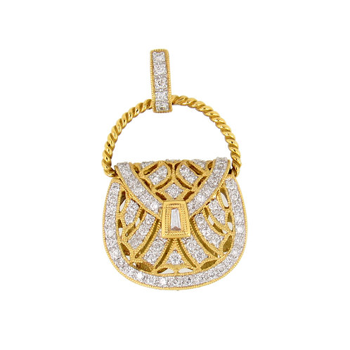 0.63ctw Diamonds Purse Pendant